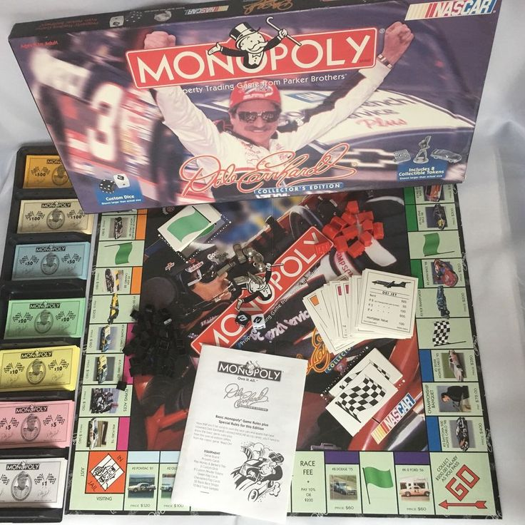 2000 Dale Earnhardt Monopoly Edition Board Game Duplicate Property Card NASCAR #ParkerBrothers