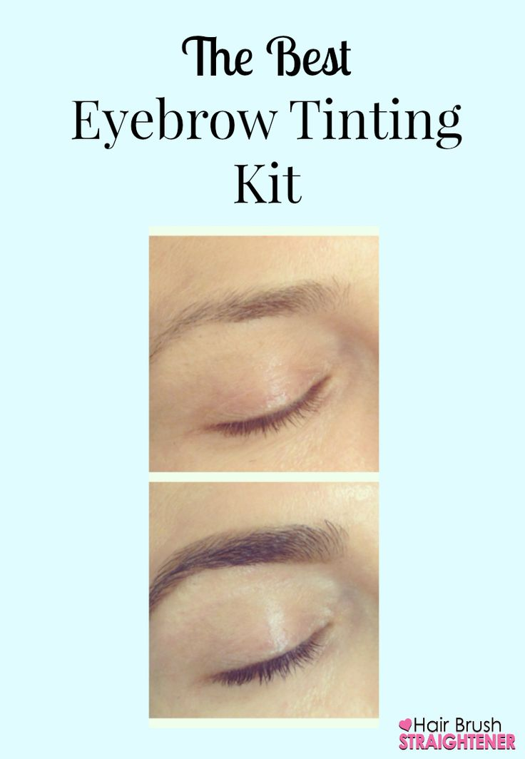 Using the best eyebrow tinting kit, my bold brows lasted for weeks!
