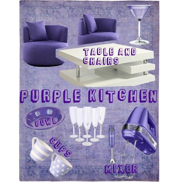 """Purple Kitchen"" by blan-xoxo on Polyvore"