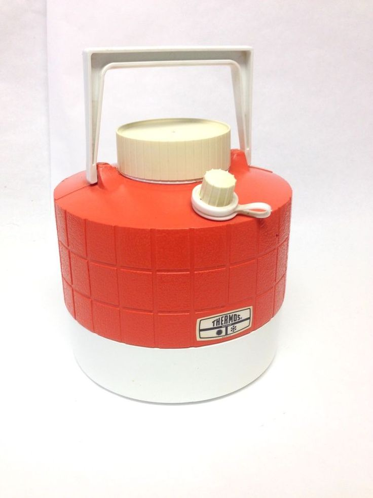 Vintage Thermos Brand Jug 1 Gallon Orange White Water Cooler  | eBay