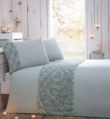 RJR.John Rocha Designer aqua floral bedding set- at Debenhams.com