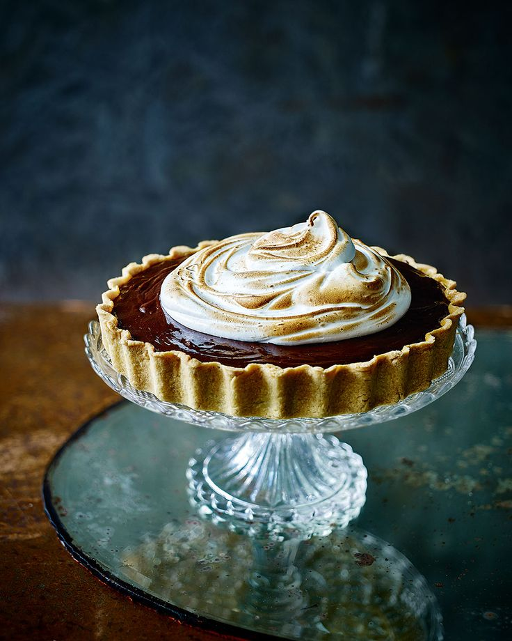 Chocolate, hazelnut and cherry tart with burnt meringue - delicious. magazine