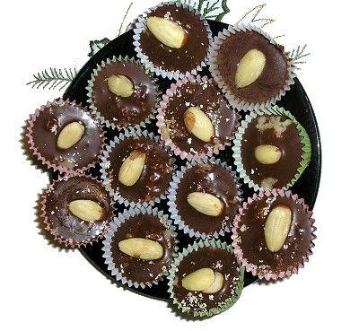 Vánoční cukroví - Čokooříškové  šohajky - nepečené