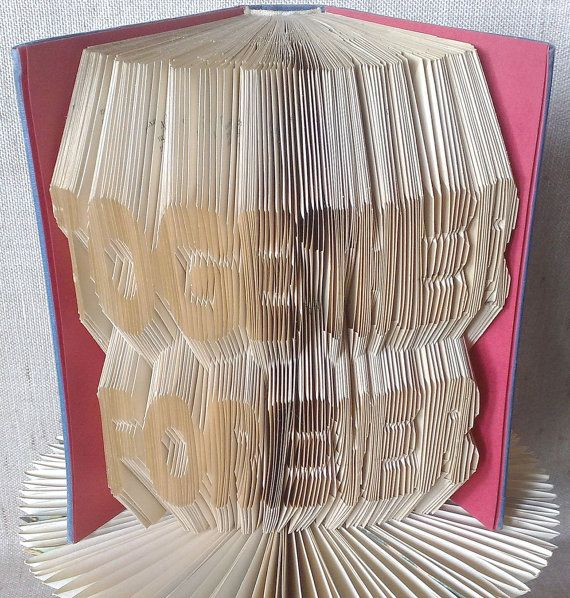 Book folding pattern and FREE Tutorial - Together Forever - folded book art, origami, gift #bookfolding #bookfoldingpattern #foldedbookart #booksculpture #papersculpturebook #origamibook #weddinggift #weddinganniversary #birthdaygift #patterntutorial #recycledbook #homedecor #craft #gift #love #together by #PatternsStore
