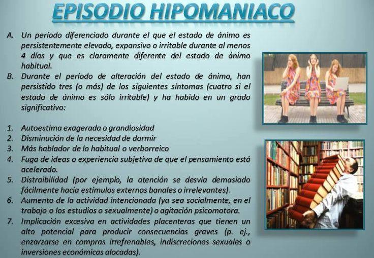 Episodios afectivos.  A nivel diagnóstico los trastornos del estado de ánimo parten del concepto de episodio. En el DSM-IV se describen tres tipos de episodios afectivos (depresivo, maníaco e hipomaníaco), quedando los trastornos definidos en términos de la duración de estos episodios y de la combinación de episodios que se observe (Vázquez & Sanz, 1995).  Buen día, Psic. Ezequiel Juárez  E-mail: psic.ezequiel@gmail.com http://www.facebook.com/psicezequieljuarez