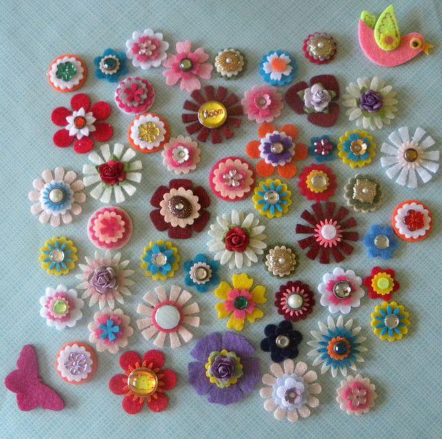 : Diy Ideas, Excel Felt, Felt Crafts, Cute Crafts, Felt Diy, Flowers Ideas, Hair Clip, Felt Cards, Felt Flowers