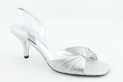 NINA Deja Slingbacks Shoes Silver Womens; I love these for silver bridesmaids shoes- easy to dance in!