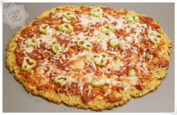 karnıbahar pizzası,, sağlık:)