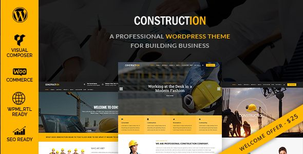 Construction - A Professional WordPress Theme for Construction & Building Business - Business Corporate