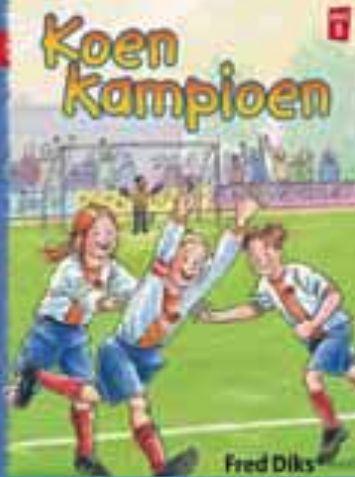Koen Kampioen Fred Dirks, kerntitel kinderboekenweek 2013, groep 3-4 Met Koen Kampioen is lezen een feest. Iedereen die met koen in aanraking komt wordt enthousiast, want Koen is dol op voetbal. In deze humorvolle serie voetbalboeken voor zowel jongens als meisjes staan sport, actie, spel en vriendschap centraal. Kluitman, € 7,50 ISBN 978 90 206 4829 4