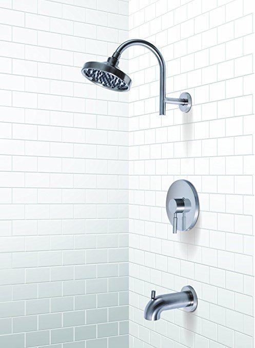 Premier 120094 Essen Single-Handle Tub and Shower Faucet, PVD Brushed Nickel - Single Handle Tub And Shower Faucets - Amazon.com
