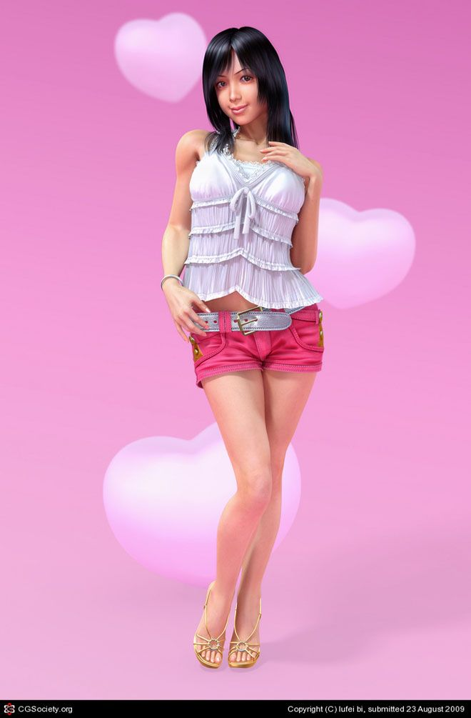 25 Glamorous 3D Character Designs and Hot 3D Models for