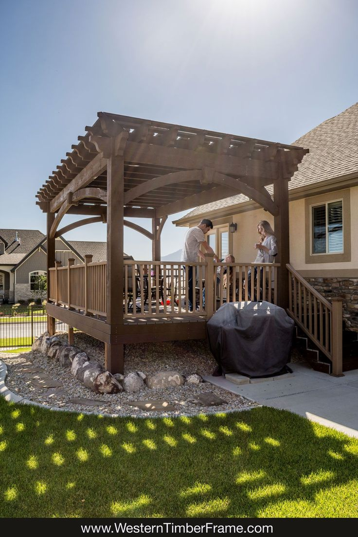 Best 25 pergola kits ideas on pinterest deck pergola wood the deck has become the hub of the home since installing a diy shadescape pergola kit they enjoy eating outside grandpa and grandmas pergola is the solutioingenieria Choice Image