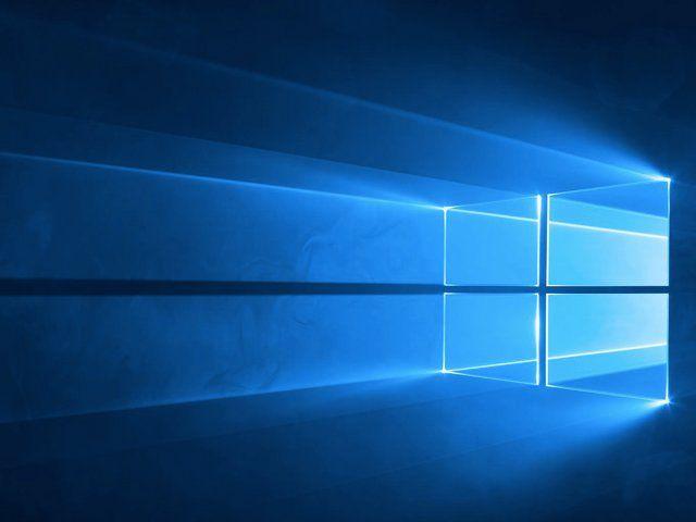 Windows 10's default desktop background.