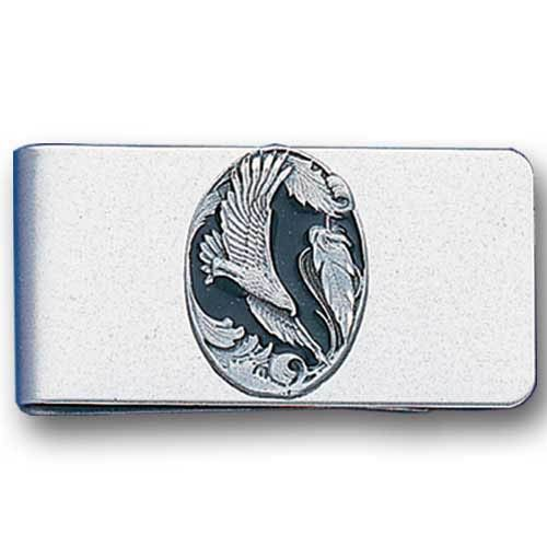 """Checkout our #LicensedGear products FREE SHIPPING + 10% OFF Coupon Code """"Official"""" Sculpted Moneyclip - Eagle in Oval - Officially licensed Siskiyou Originals product Stainless steel money clip Strong clip securely holds your cash Makes a great gift for an avid sports fan  emblem - Price: $16.00. Buy now at https://officiallylicensedgear.com/sculpted-moneyclip-eagle-in-oval-mc4"""