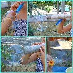 bolle di sapone fai da te - homemade soap bubbles