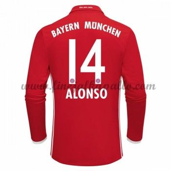 Jalkapallo Pelipaidat Bayern Munich 2016-17 Alonso 14 Kotipaita Pitkähihainen