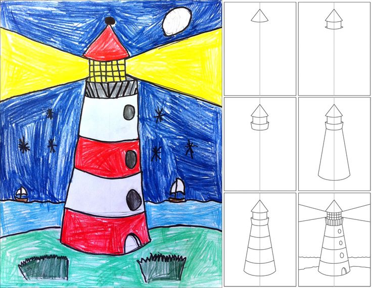 The Little Red Lighthouse - Art Projects for Kids: How to Draw a Lighthouse