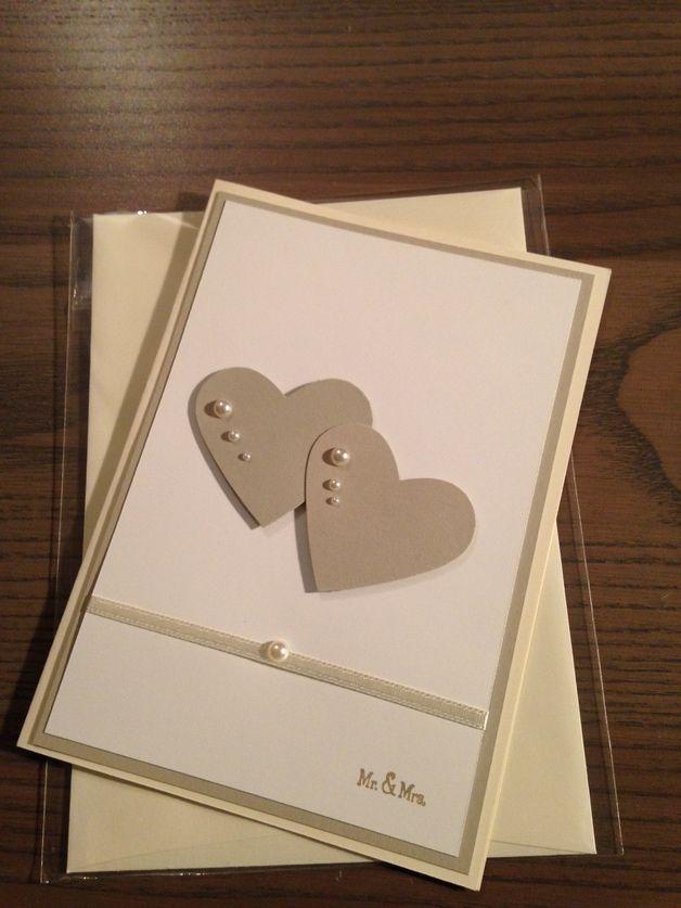 Hochzeitskarten - Karte zur Hochzeit - ein Designerstück von Trina78 bei DaWanda