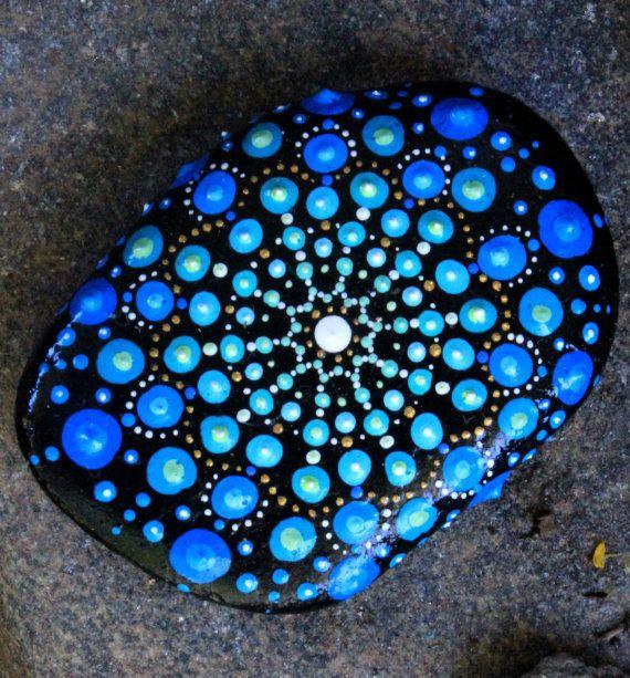mandalas mandala stones mandala rocks painted by KarinGetazArt