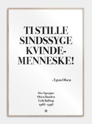 'Olsen banden' plakat: TI STILLE SINDSSYGE KVINDEMENNESKE!