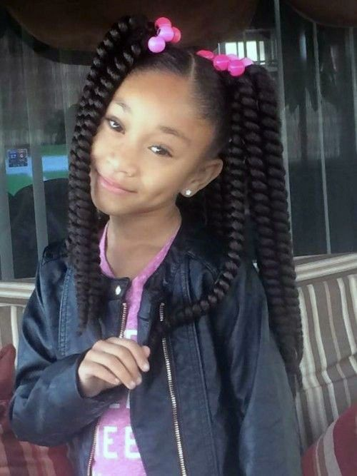 Black Kids Hairstyles with Braids, Beads and Accessories - Black Kids Hairstyles - #Accessories #Beads #black #braids #Hairstyles