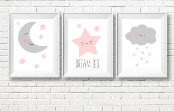 Drucke & Plakate – A4 Drei Poster Kinderzimmer, Bild, Plakat – ein Designerstück von black-dot-studio bei DaWanda