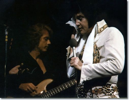 Elvis' last Concert  |  Jerry Scheff and Elvis Presley June 26, 1977, Indianapolis, IN.