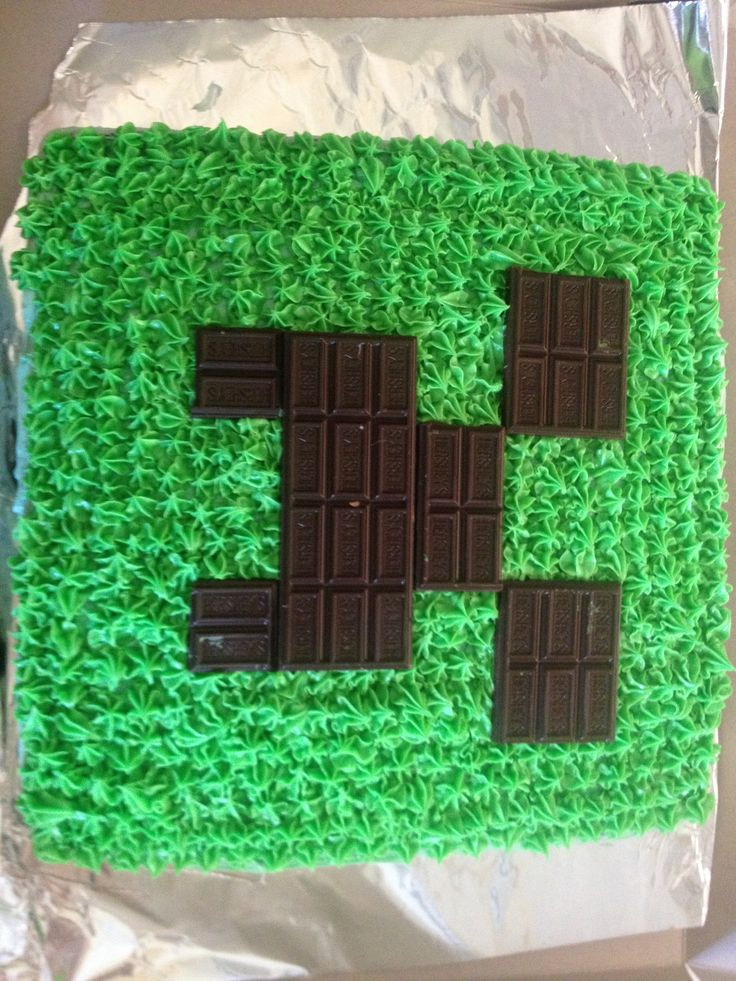 Cake Ideas Minecraft : Minecraft cake I made for my son s birthday. There is a ...