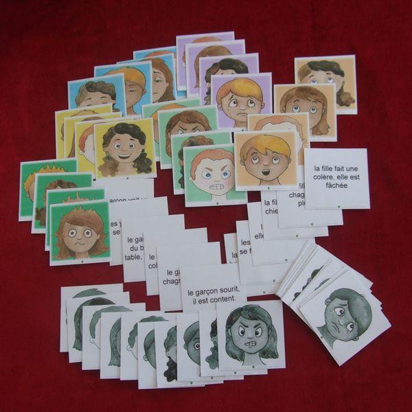 Les cartes des émotions (310178) - Autisme et Apprentissages