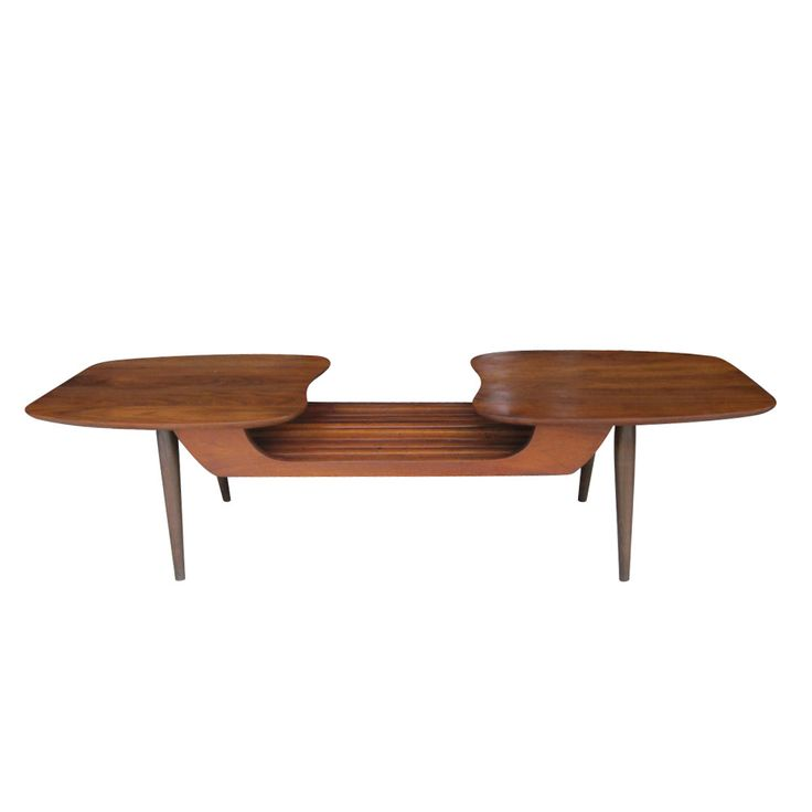Vintage Danish Style Walnut Coffee Table By Ace High