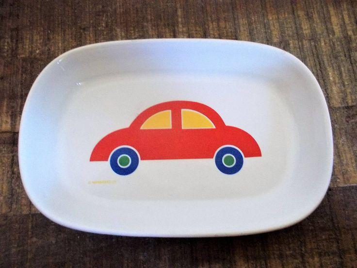 Vintage United Airlines Marimekko for Pfaltzgraff Childrens Car Snack Dish by ObjetLuv on Etsy