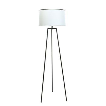 Harvey Black & Cream Floor Lamp: Image 1