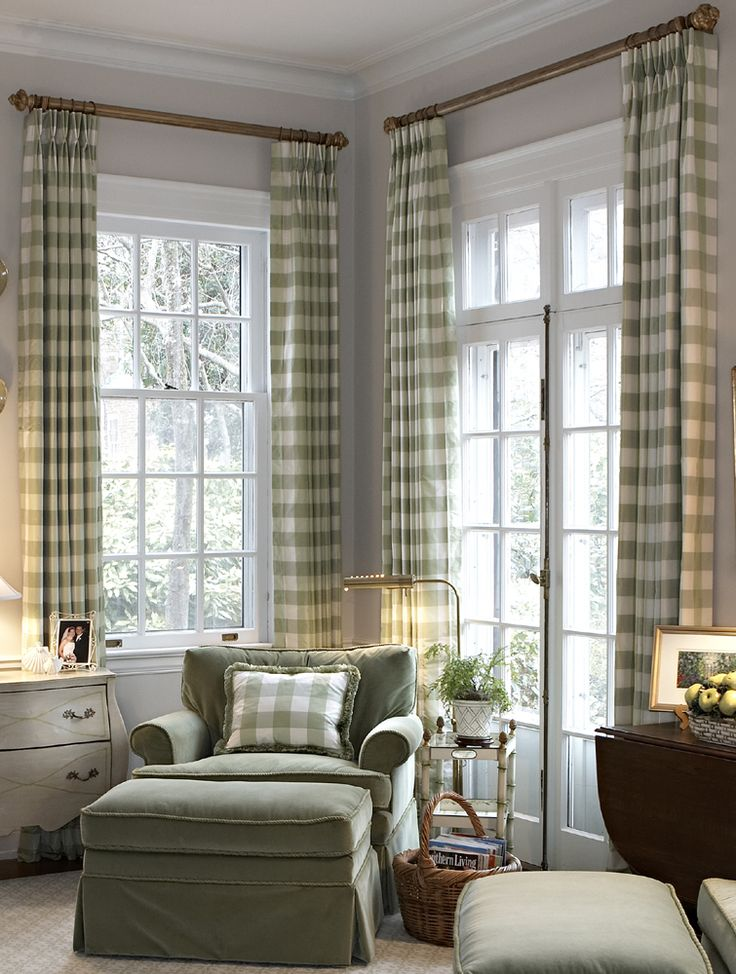 Love the height and placement of the drapes: