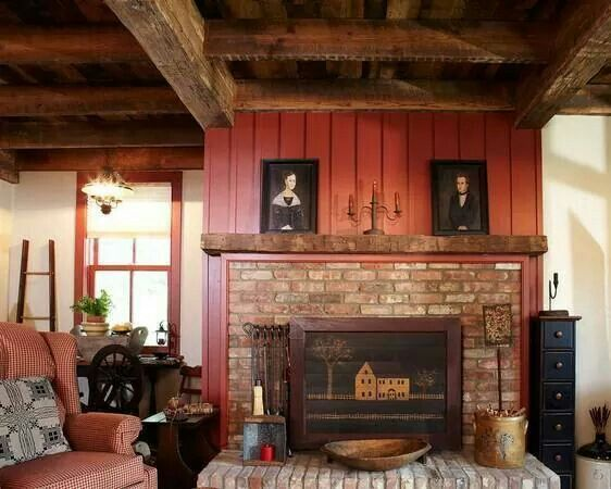 Adorable Rustic Fireplace Mantels Concept To Warm Up The Room Cool Brick Idea With Chalk Painting Placed Block Old