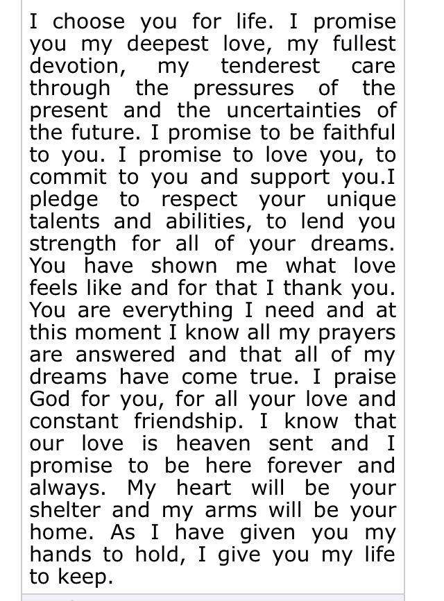 Amazing words for my soon to be husband | Wedding vows to