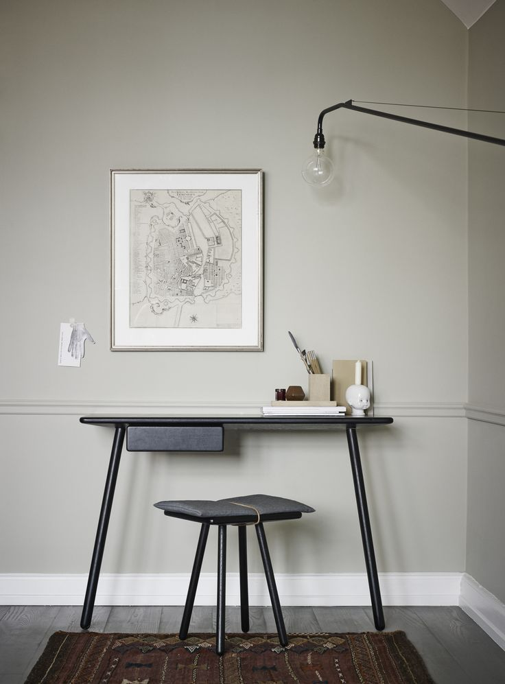 Georg desk black and Georg stool design by Christina Liljenberg Halstrøm