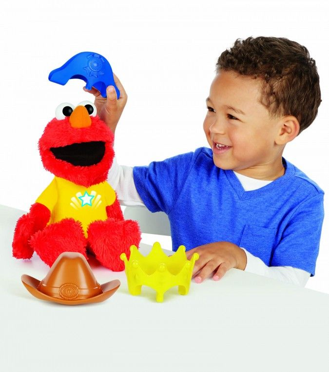 New! This talking #Elmo toy, great for kids ages 2-4, giggles when tickled, bounced, or squeezed. This would be a wonderful birthday or Christmas gift!