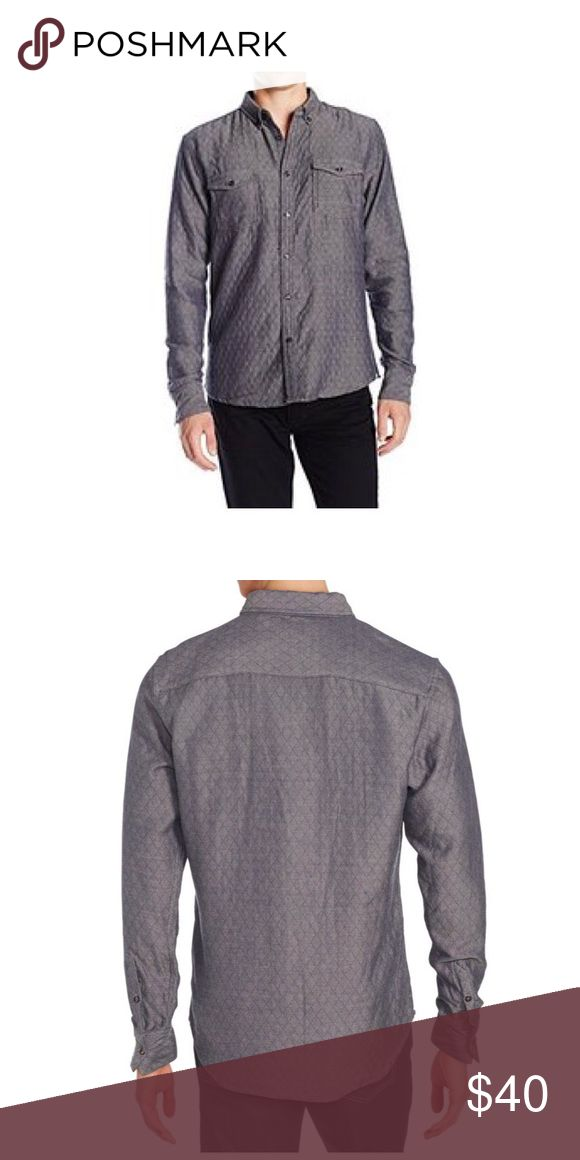 NWT Sovereign Immunity Los Angeles - quilted shirt Brand new quilted shirt jacket in chambray dark grey color. Sovereign Code Shirts Casual Button Down Shirts