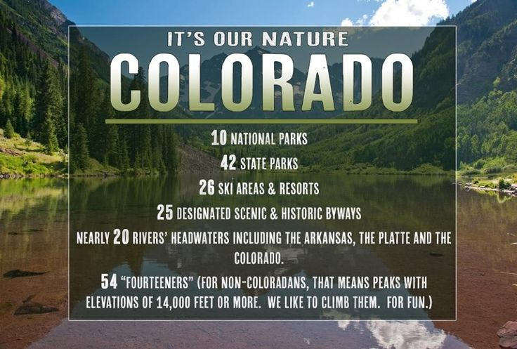 Nature is... well in our nature in Colorado.  Check out all the Coloradical natural wonders we have to choose from.
