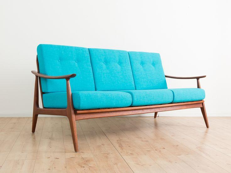 TEAK Sofa, Made in Denmark, 60er Jahre, 50er,  von MID CENTURY FRIENDS auf DaWanda.com