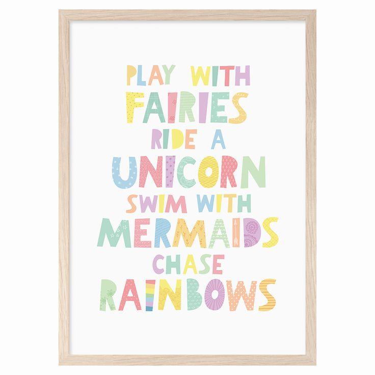 Play with fairies ride a unicorn swim with mermaids for Unicorn bedroom decor