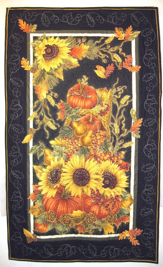 Quilted Wall Hanging  Autumn Harvest by KellettKreations on Etsy