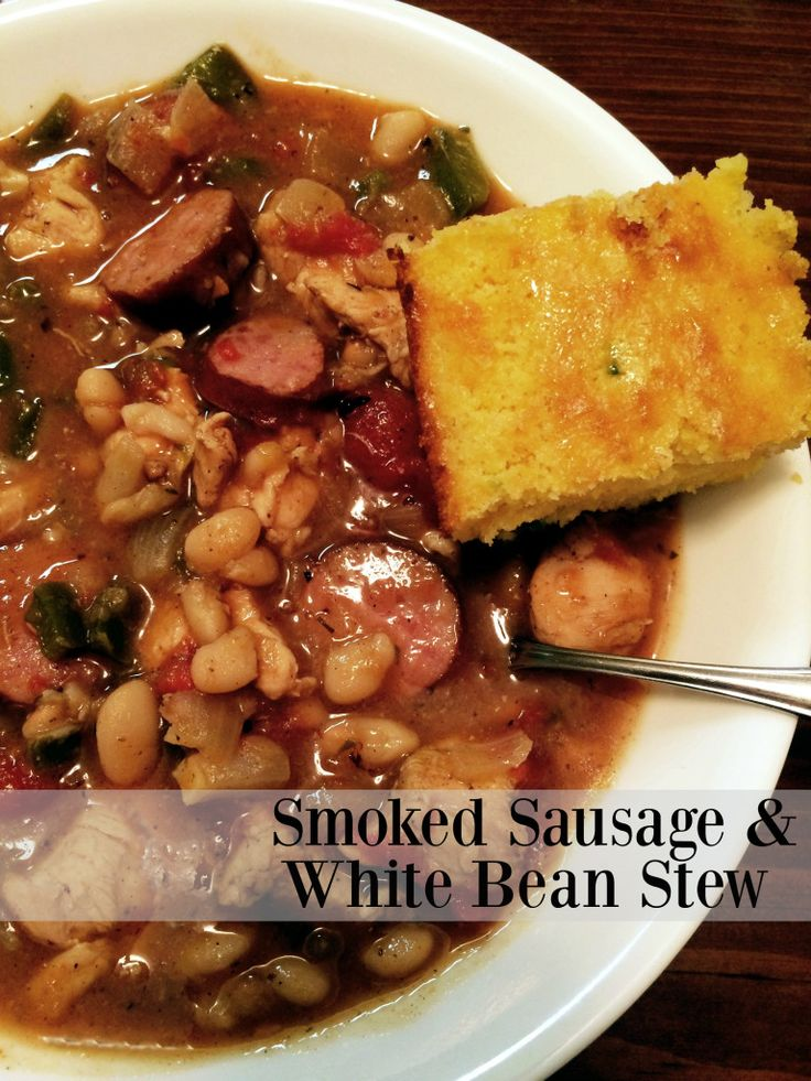 Smoked Sausage & White Bean Stew | Aunt Bee's Recipes