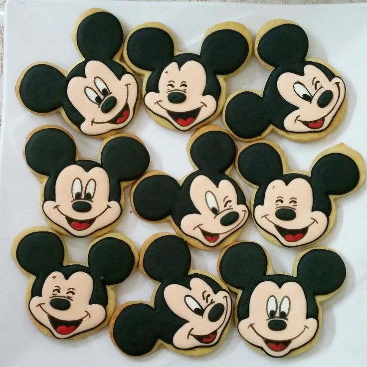 mickey mouse happy faces cookies decorated cookies