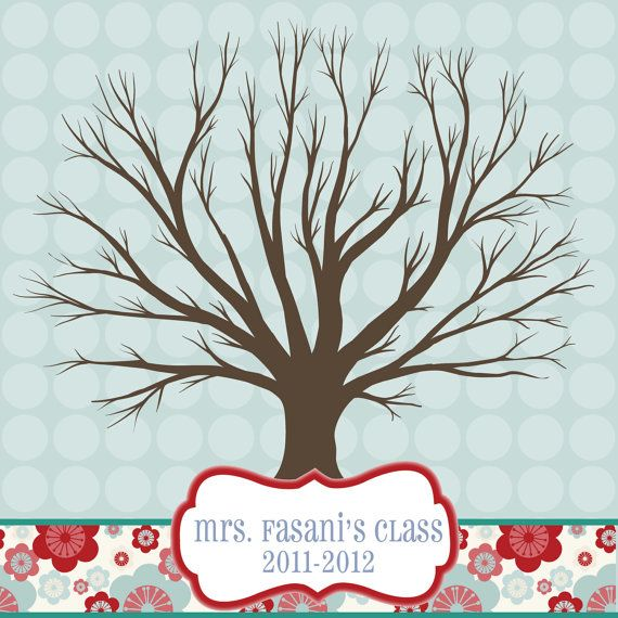 teacher gift thumbprint tree