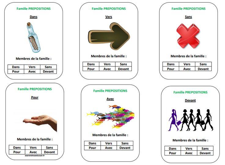 Le jeu des 7 familles grammaticales : pour réviser la grammaire en s'amusant