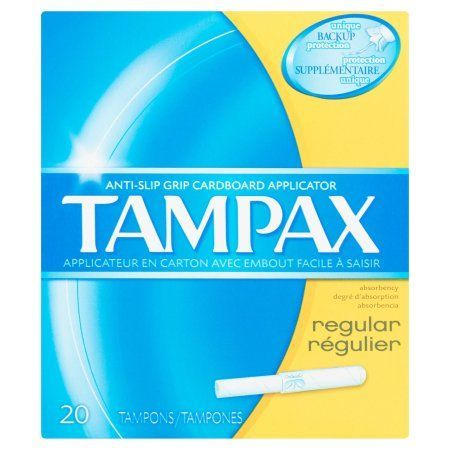 Tampax Regular Cardboard Applicator Unscented Tampons, 20 count