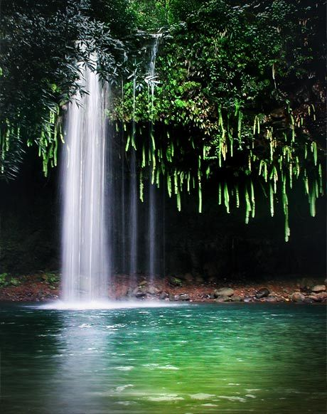 Twin Falls on the Road to Hana, Maui, Hawaii. Never had the interest to go to Hawaii but this has made me want to go.