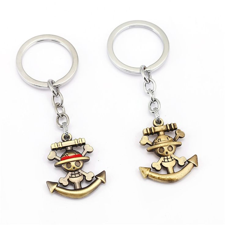 3 Colors One Piece Luffy Skull Anchor Pendants Key Chain Keychain Metal Keyring //Price: $8.00 & FREE Shipping //     #onepiecelover #onepieceatatime #dluffystore